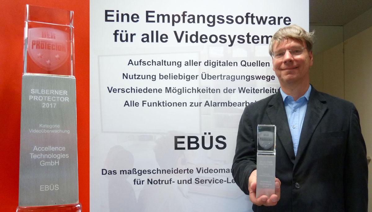 EBÜS gewinnt PROTECTOR Award 2017 im Bereich Video